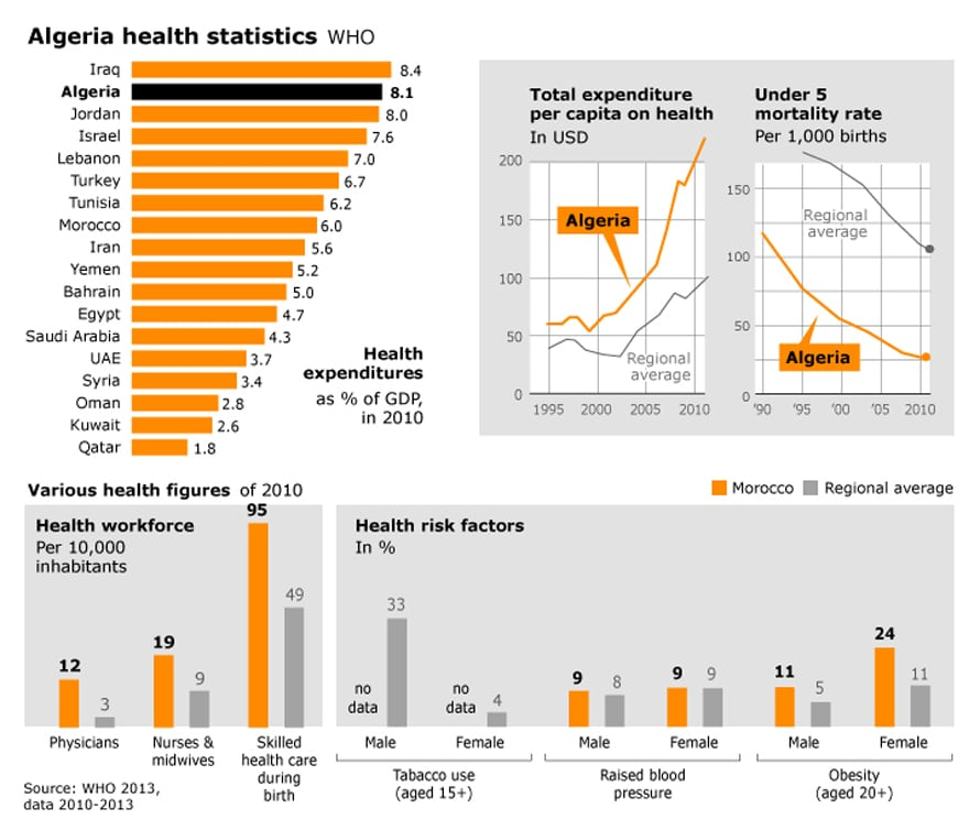 infographic health in algeria