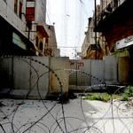 City centre, blocked street / Photo Fanack