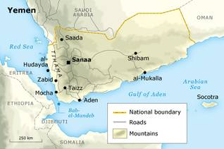 Economy Yemen - State Borders Boundaries