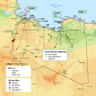 Libya Economy - Infrastructure Map