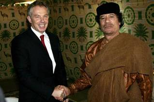With former British Prime Minister Tony Blair in 2007