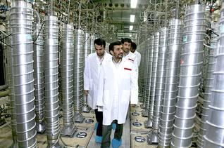 President Mahmoud Ahmadinejad visiting a nuclear installation