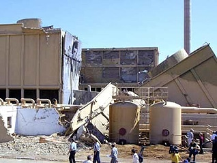The Osirak nuclear plant destroyed after the Israeli attack