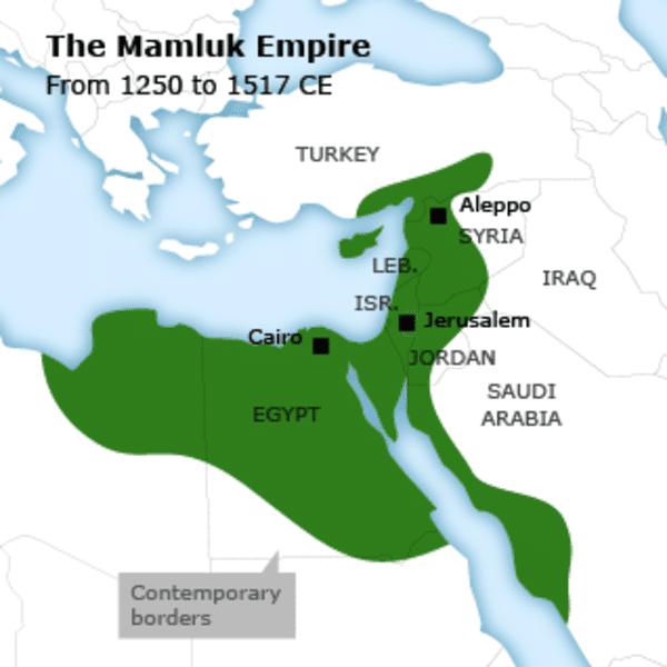 Israel Mamluk map