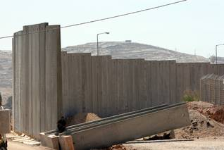 The construction of the Israeli Wall