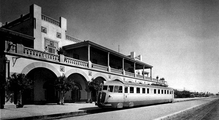 Modernist railway station, Tripoli, 1930s