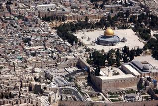 The Old City of Jerusalem, with the Temple Mount, the Dome of the Rock Mosque and the Wailing Wall / Photo HH
