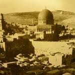 حي المغاربة أمام حائط المبكى، قبل تدميره عام 1967