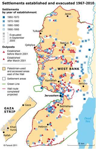 فلسطين اسرائيل مستوطنات