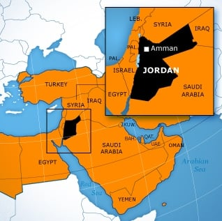 Fanack Chronicle Jordan Country File - Jordan country in world map