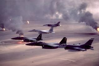 طاشرات أمريكية خلال عملية عاصفة الصحراء