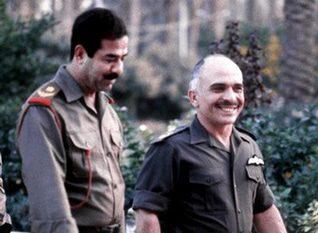 الملك حسين والرئيس العراقي صدام حسين