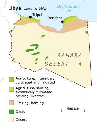 ليبيا - خصوبة التربة