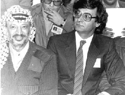Mahmoud Darwish and Yasser Arafat literature Palestine