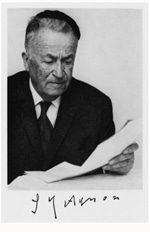 Israel's first winner of the Nobel Prize in Literature, Shmuel Josef Agnon
