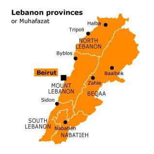 mao of the Lebanon provinces