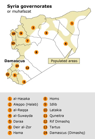 syrian governorates - Fanack