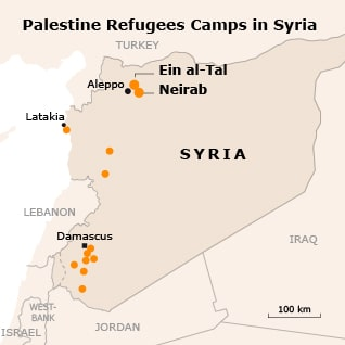 refugee issue palestine refugee camps in syria