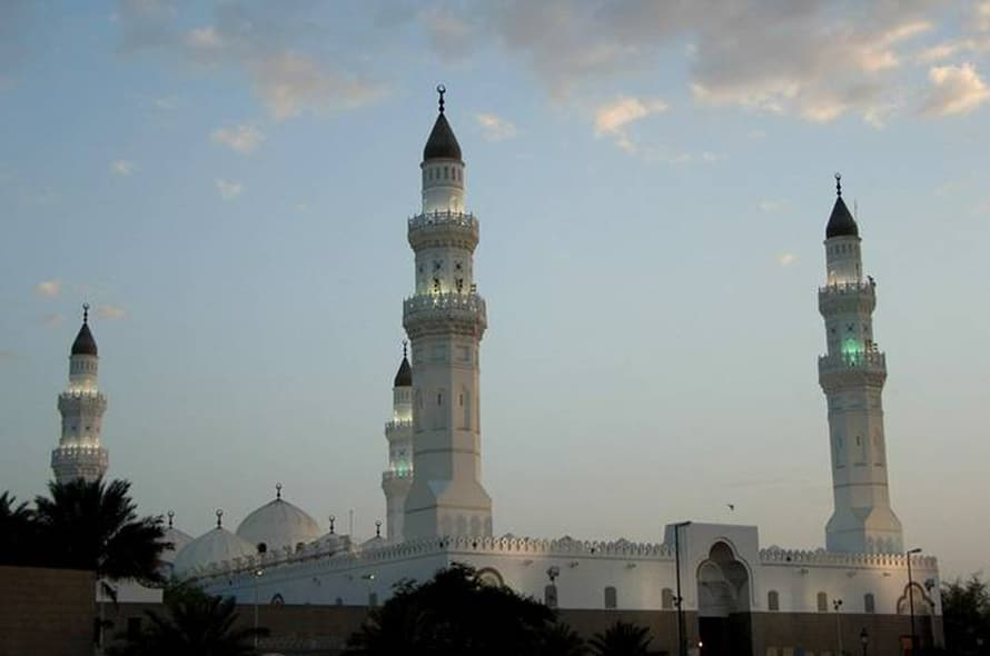 مسجد قباء، أقدم مسجد في العالم، بني عام 622 في المدينة المنورة