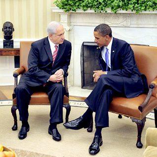 لقاء باراك أوباما وبنيامين نتنياهو في واشنطن عام 2010 Photo HH