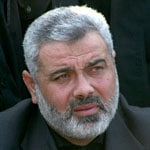 Ismail Haniyeh, leader of the Hamas government of Gaza since 2007