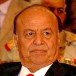 Former Vice-President, now President Abd Rabbuh Mansur al-Hadi