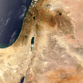 Satellite view of Israel and surrounding countries Photo Eosnap/Chelys