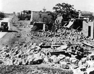 A Palestinian village, reduced to rubble by Israeli troops following the partition of 1948 Photo Camera Press/HH