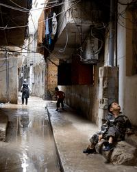 في مخيم شاتيلا للاجئين الفلسطينيين، بيروت - لبنان, Photo J. Schwarz/HH