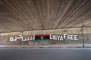 كتابات مناهضة للقذافي في بنغازي