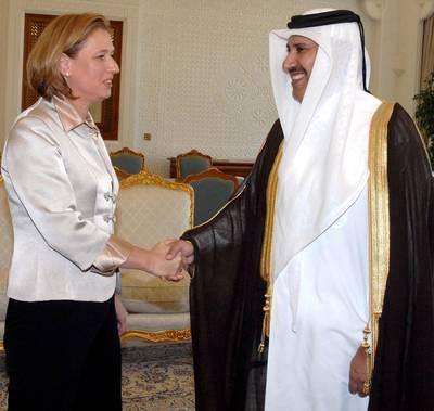 Tzipi Livni Hamad bin Jassim alliance qatar Israel