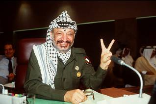 Yasser Arafat at the Arab Summit in Algiers, in 1988 / Photo Magnum/HH