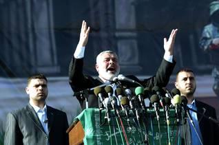 Hamas leader Ismail Haniyeh speaks to the Gazans / Photo HH