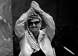 PLO leader Yasser Arafat at the UN in New York, 1974.