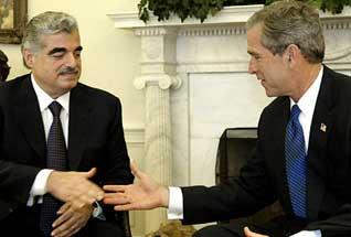 لبنان الحريري بوش