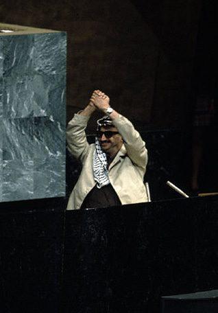 Photo HH / ياسر عرفات زعيم منظمة التحرير الفلسطينية في الجمعية العامة للأمم المتحدة في نيويورك