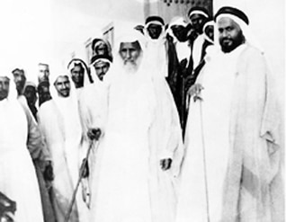 Sheikh Abdullah bin Jassim Al Thani, surrounded by family members