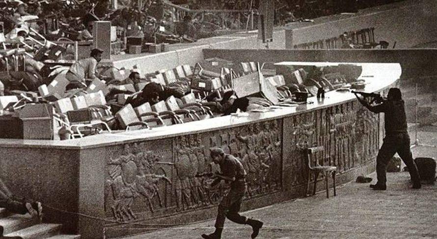 Assassination of President Anwar al-Sadat during a parade in Cairo, on 6 October 1981