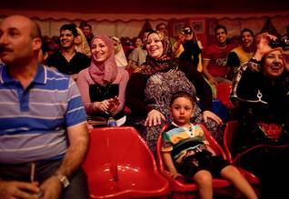 Families visiting the circus in Baghdad, September 2011 Photo HH