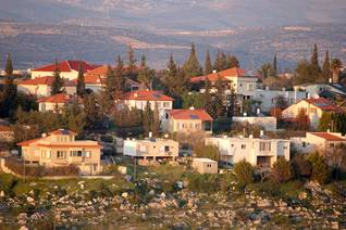 مستوطنة يهودية في الضفة الغربية اضغط للتكبير Photo: Shutterstock