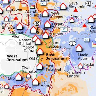 مستوطنات يهودية في القدس الشرقية اضغط للتكبير