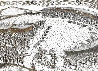نقش لمعركة القصر الكبير، المعروفة باسم معركة الملوك الثلاثة