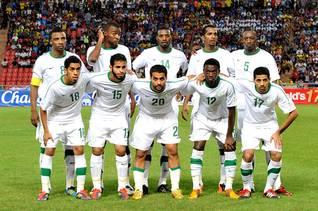 The national soccer team of Saudi Arabia in 2011