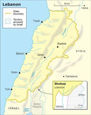 لبنان جغرافيا