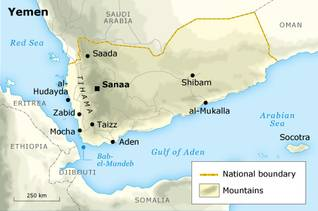 Geography Yemen - State Borders