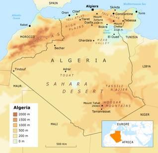 Algeria state borders