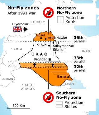 No-Fly Zones after 1991 war in Iraq