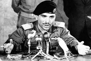 King Hussein as commander of the Jordanian Armed Forces