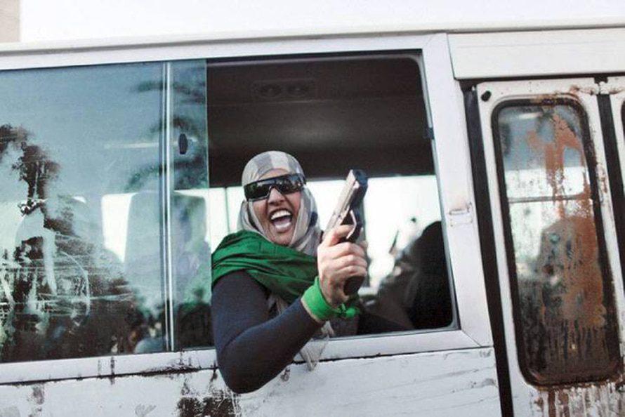 مؤيدو القذافي في شوارع طرابلس / Photo HH