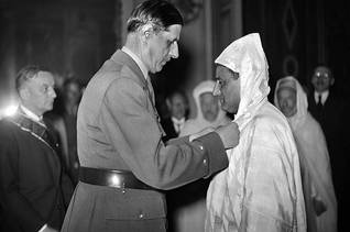 French President Charles De Gaulle and King Mohammed V